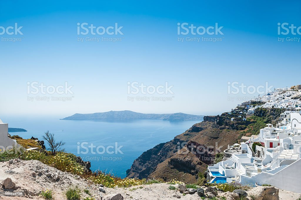 Luxury hotel with sea view stock photo
