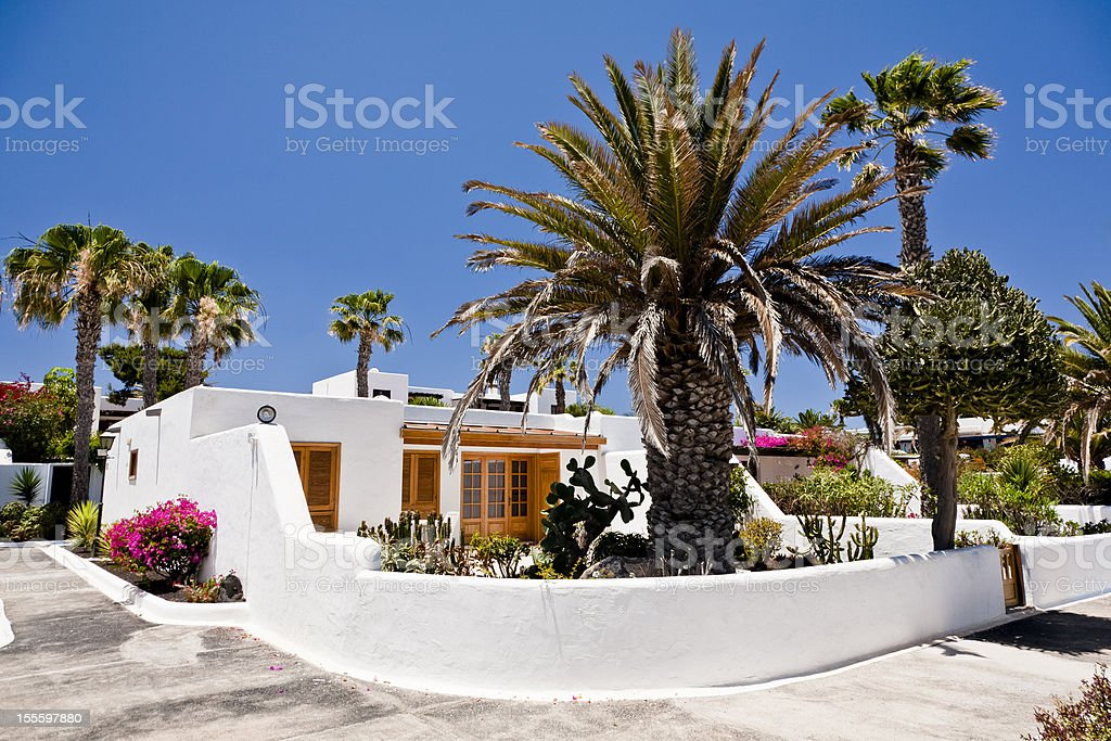 Luxury house in Lanzarote royalty-free stock photo