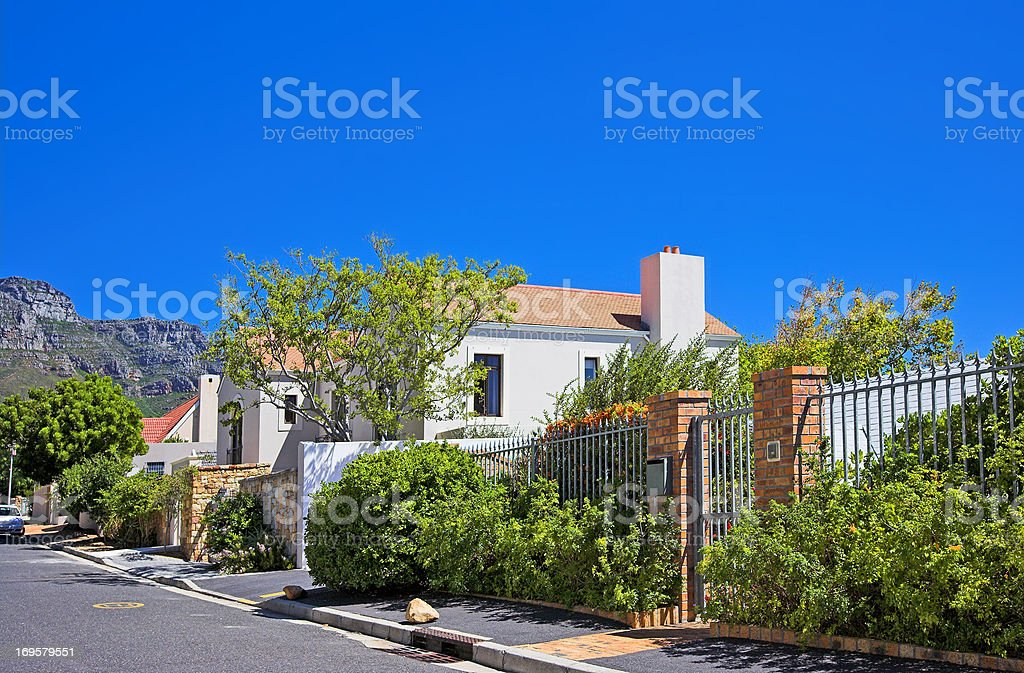 A luxury house in South Africa stock photo