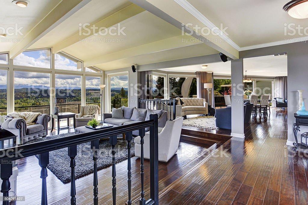 Luxus Haus Innen Wohnzimmer Mit Blick Stockfoto Und Mehr Bilder Von Architektur Istock