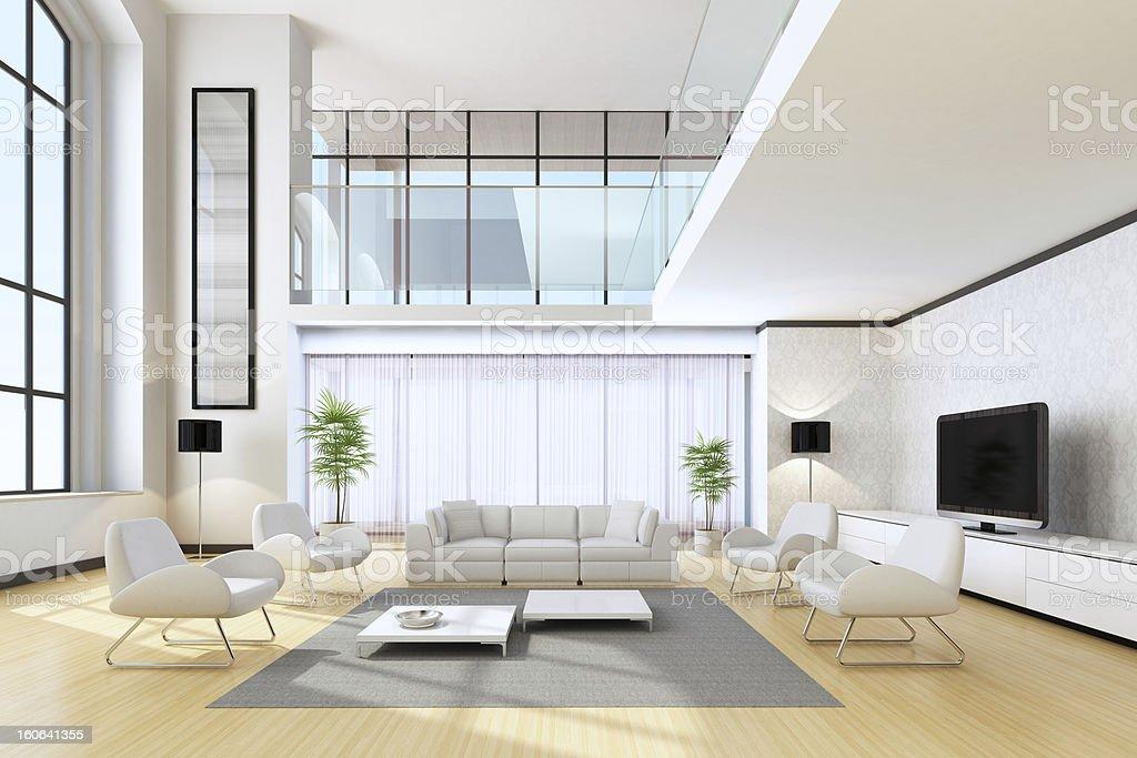 Luxury House Interior stock photo