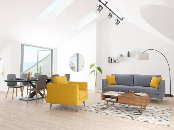Luxus-Haus, Wohn- und Esszimmer – Foto