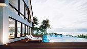 istock Luxury House With Infinity Pool 1222228710