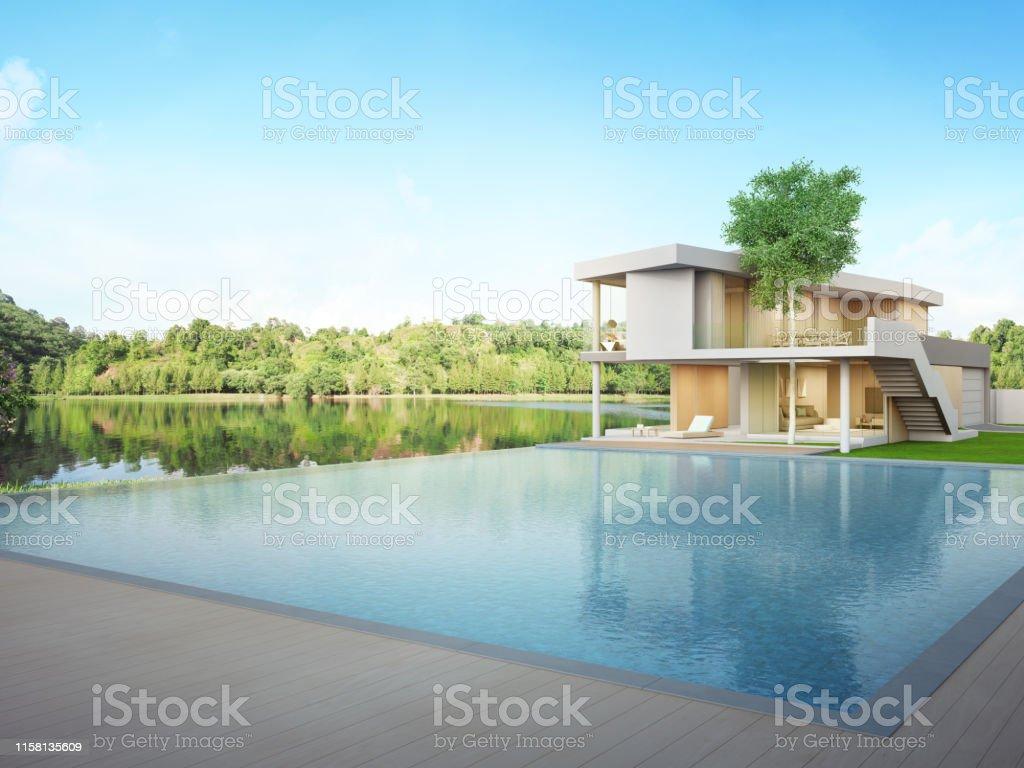 Casa De Lujo Con Piscina Con Vistas Al Lago Y Terraza De