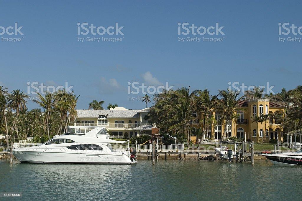 luxury houses in Miami royalty-free stock photo