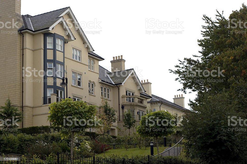 Luxury housing development stock photo