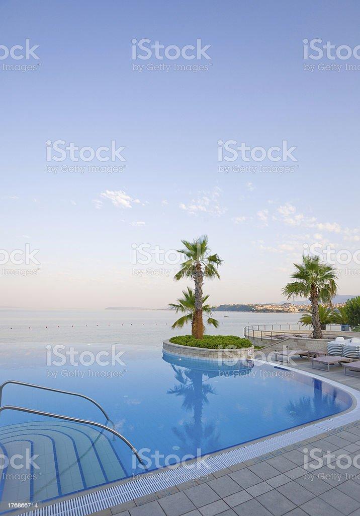 Luxury Infinity Pool - portrait stock photo