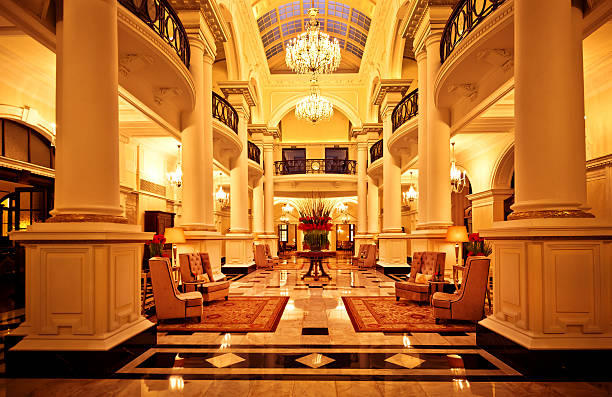 luxury interior of a hotel stock photo