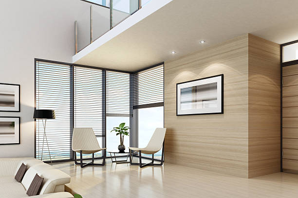 luxus interior penthouse - malerei türen stock-fotos und bilder