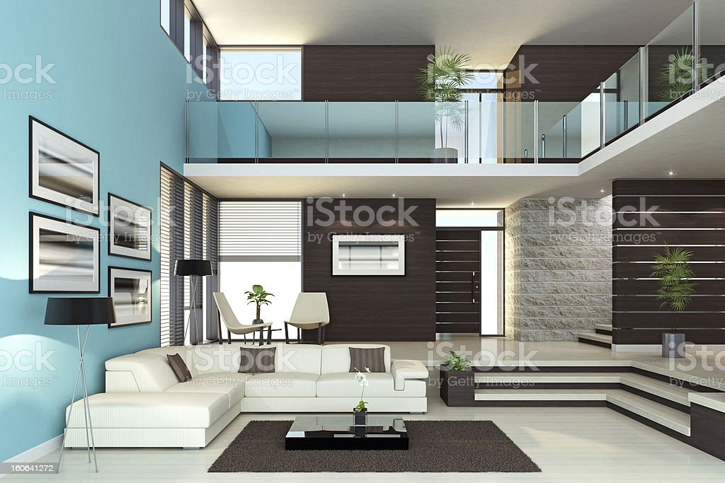 Luxury Interior Penthouse royalty-free stock photo