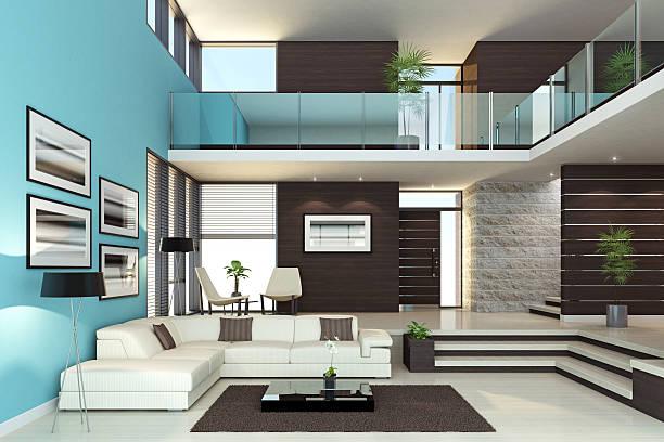 Interior Penthouse Luxo - foto de acervo