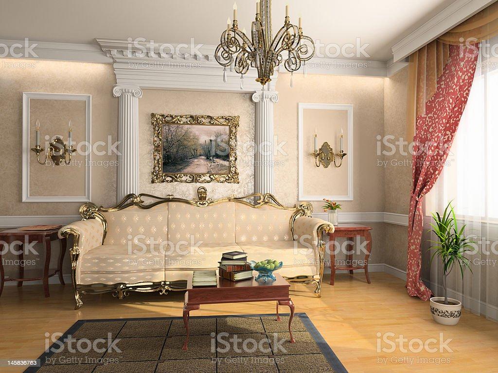 luxury interor stock photo