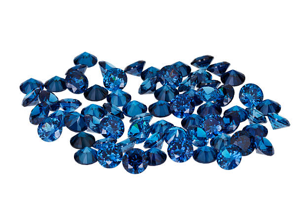 luxury jewelry gems - sapphire gemstone stock photos and pictures