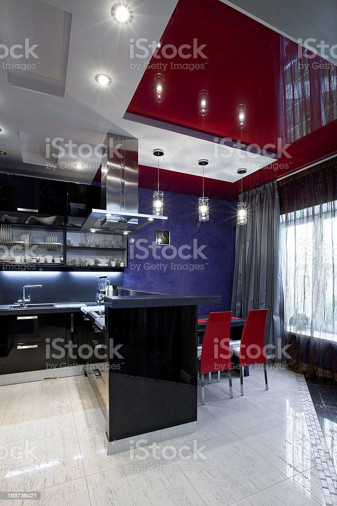 Luxury kitchen interior royalty-free stock photo
