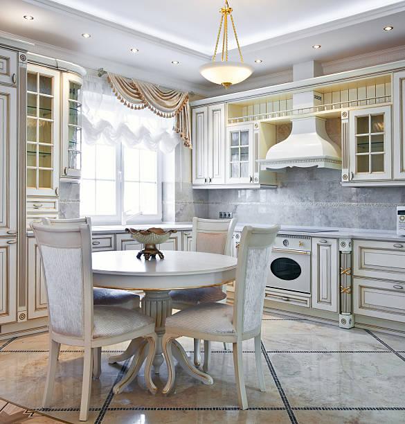 Luxury kitchen interior stock photo
