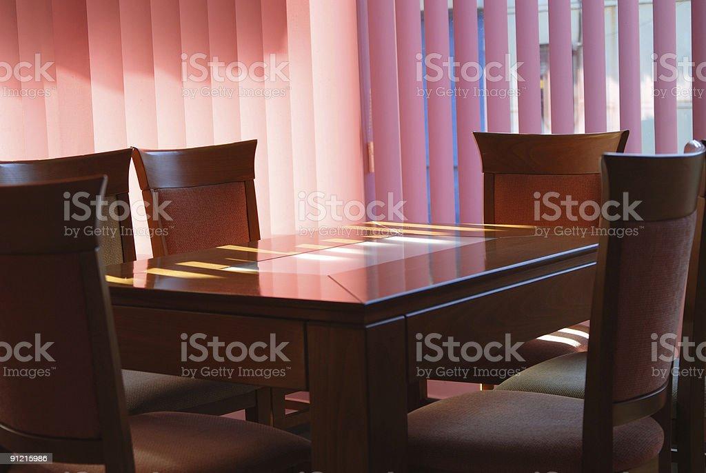 Luxury kitchen table royalty-free stock photo