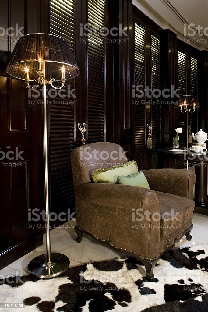 Luxury Leather Chair royalty-free stock photo