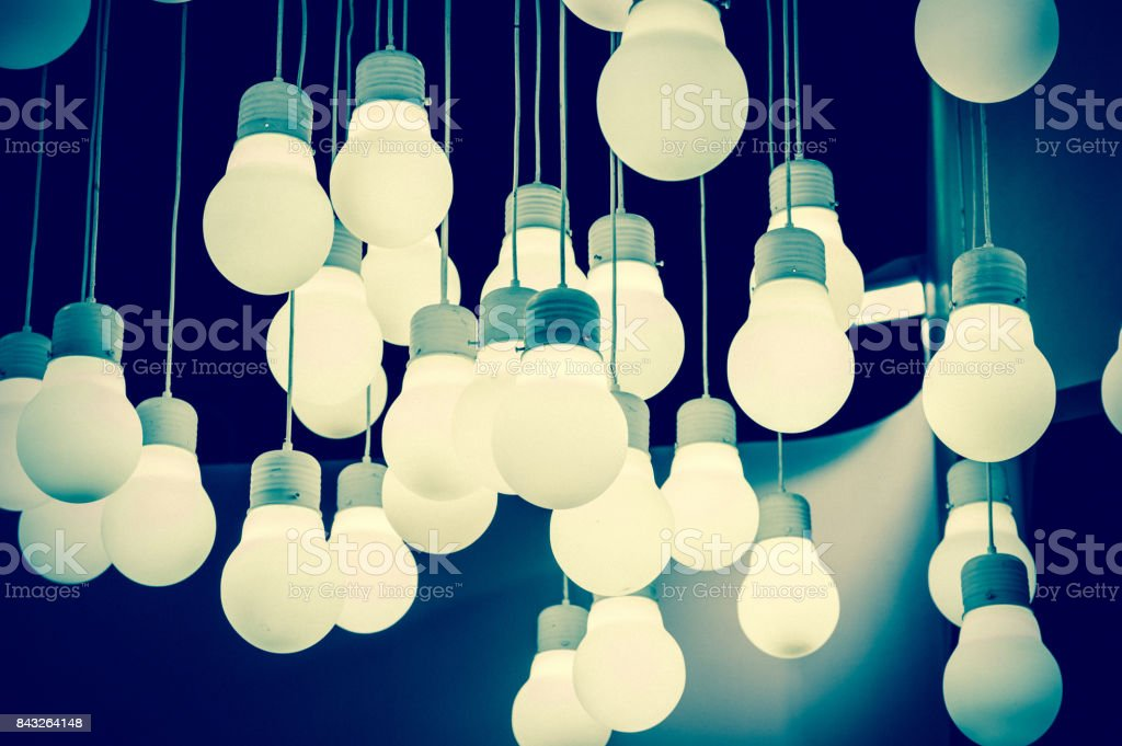 Luxury lighting decoration stock photo