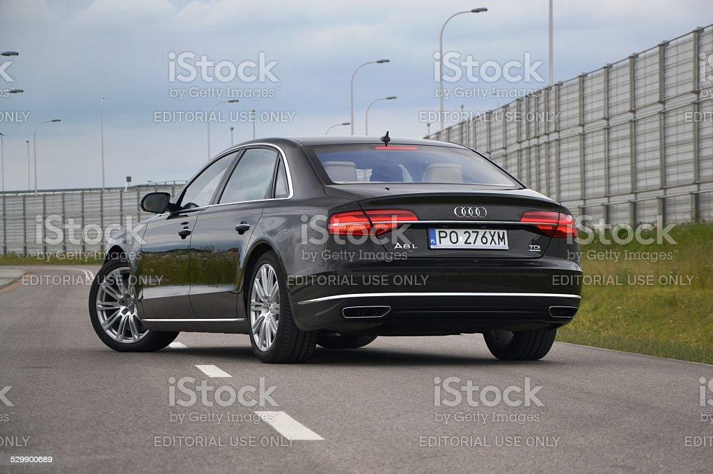 Luxury limousine on the street stock photo