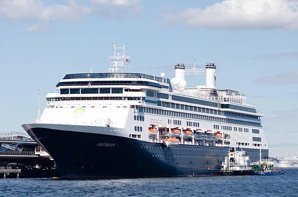 Luxury liner Amsterdam stock photo