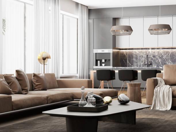 高級リビングロフトディテール - 椅子 家具 ストックフォトと画像