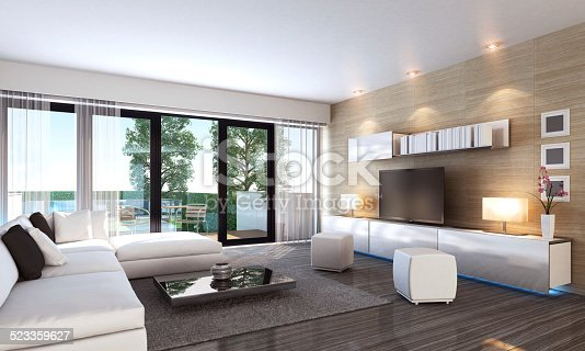 istock Luxury Living Room Interior 523359627