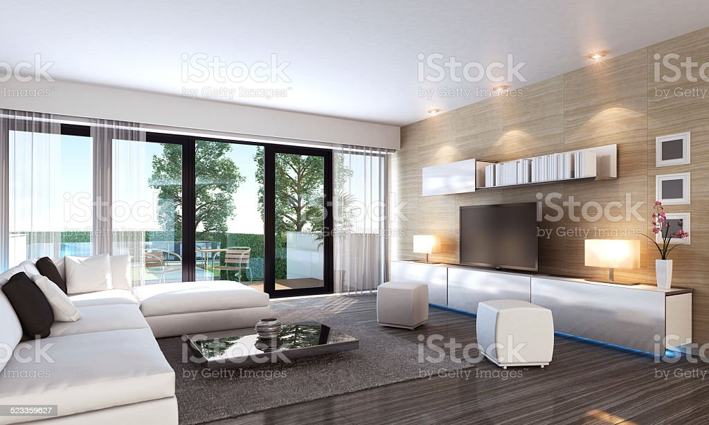 Luxury Living Room Interior stock photo
