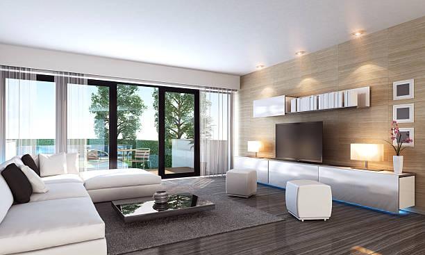 Luxury Living Room Interior stock photo