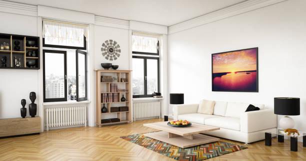luxus-wohnzimmer - heizraum stock-fotos und bilder
