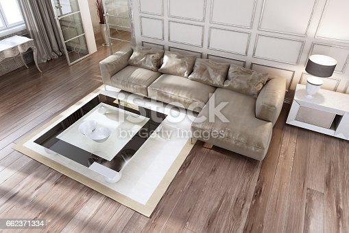 istock Luxury living room top view 662371334