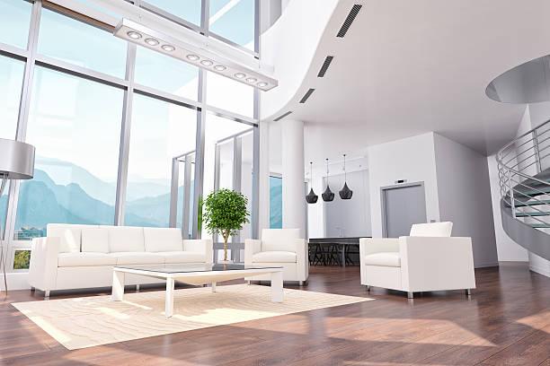 Luxo apartamento Loft/escritório/quarto de Hotel Design de interiores - foto de acervo