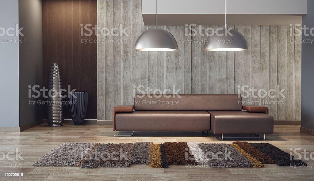 luxury lounge room 3d render royalty-free stock photo