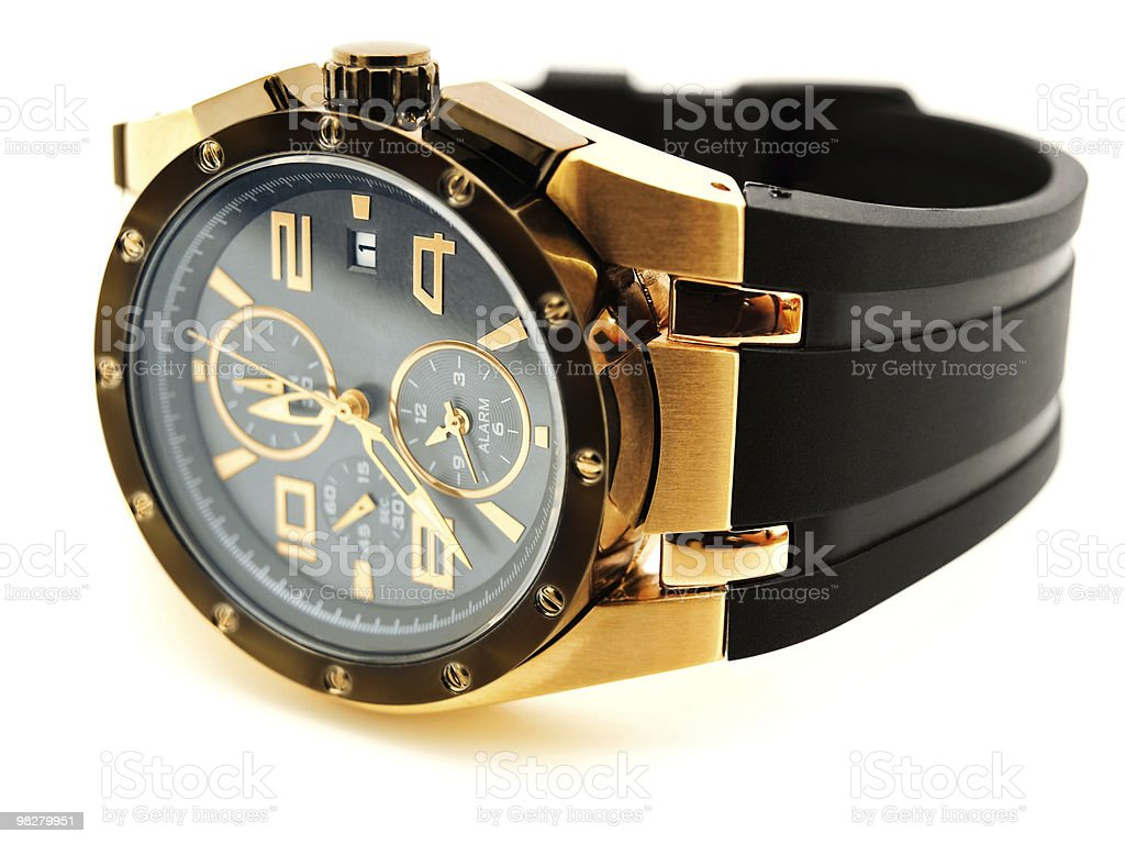 luxury man clock royalty-free stock photo