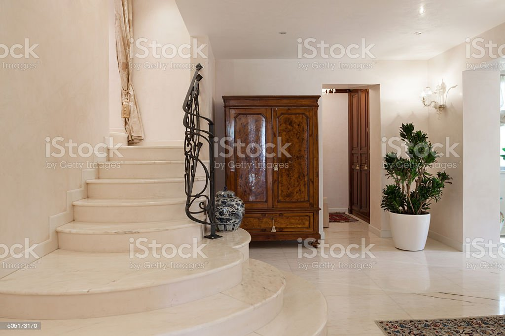 ... Luxury Mansion, Staircase Stock Photo ...