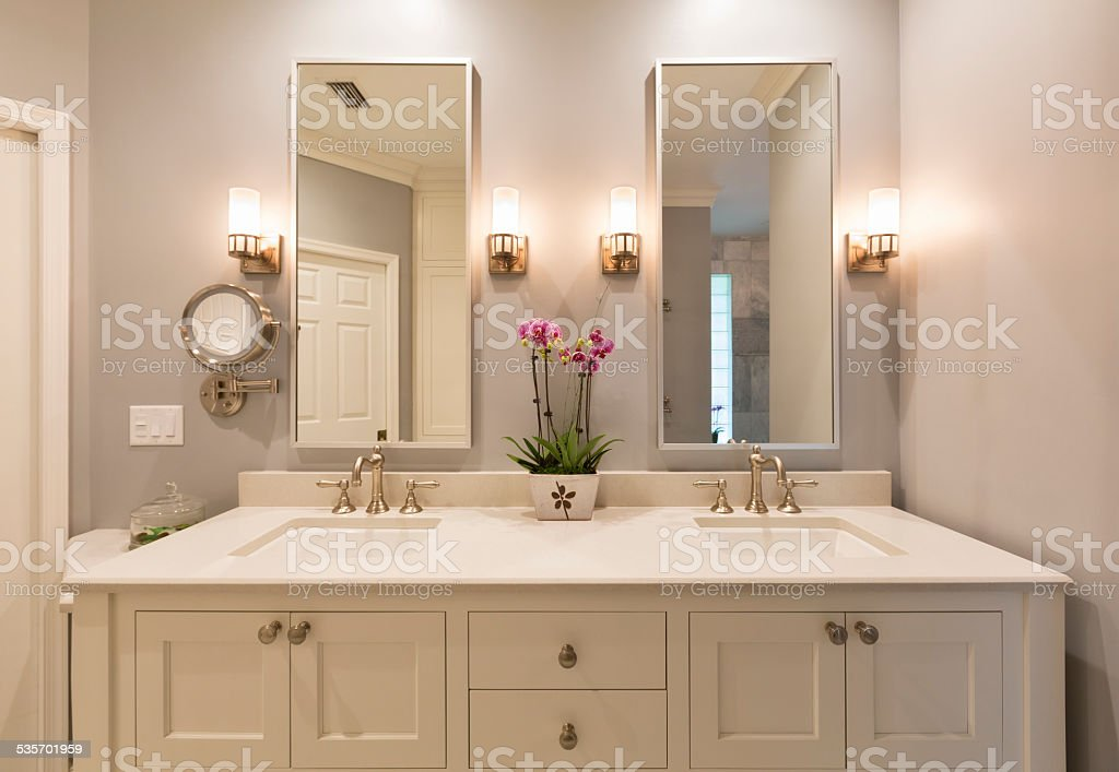 Luxury Master Bathroom stock photo