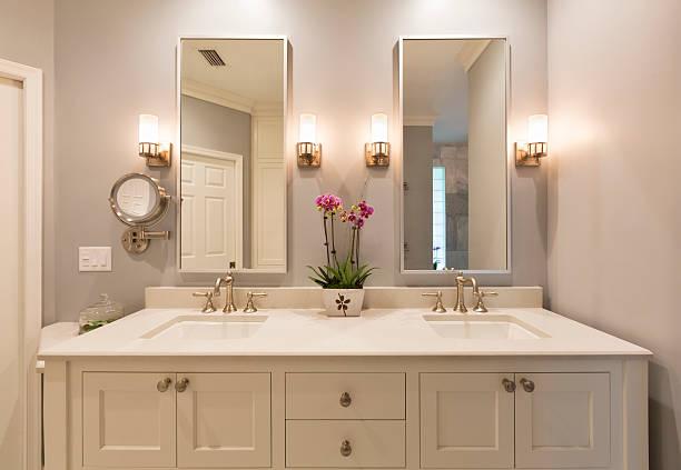 Luxury Master Bathroom stock photo