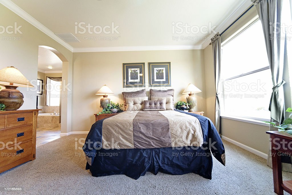 Luxury Master Suite stock photo