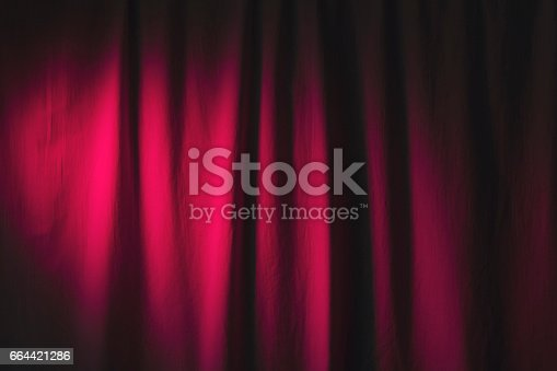 istock Luxury mauve color curtains textile or fabric. 664421286