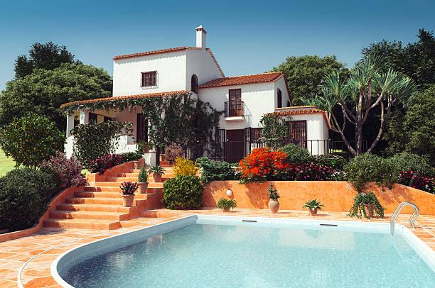 Luxury Mediterranean Style Villa stock photo