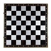 istock Luxury metal chess board 533439476