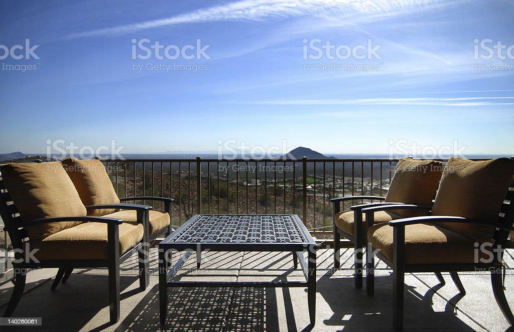 Luxury Milion Dollar Home overlooking AZ golf course. royalty-free stock photo