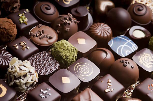 Luxury milk and dark chocolate truffles