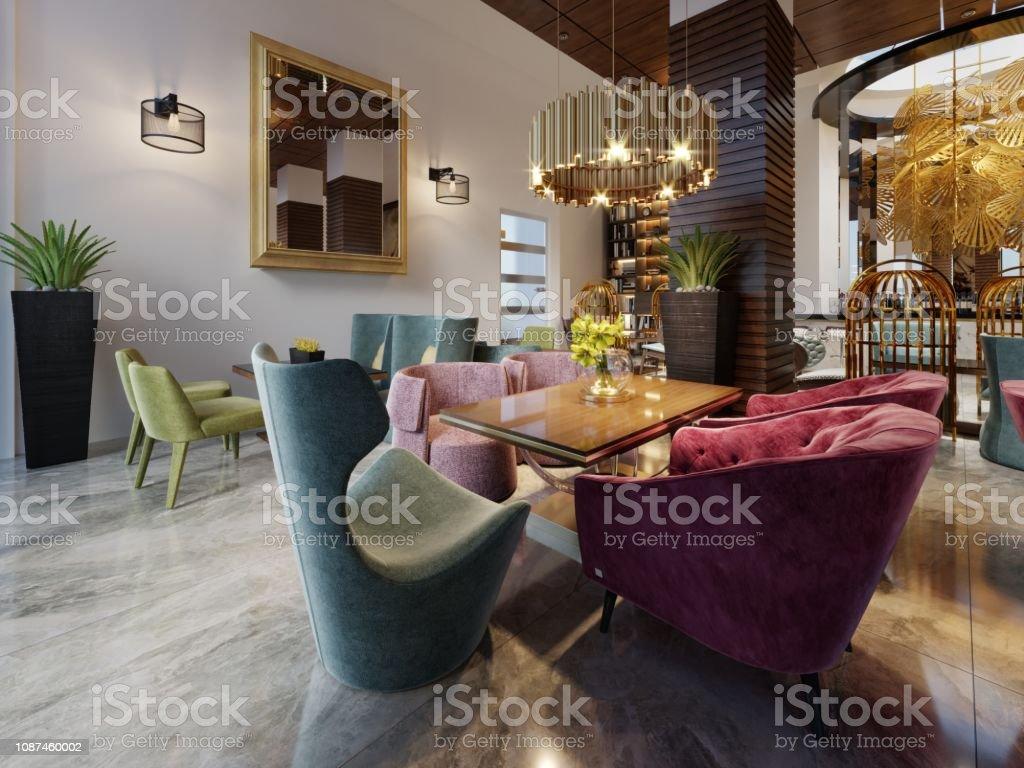 Luxus Modernen Europäischen Café Innendesign In Der ...