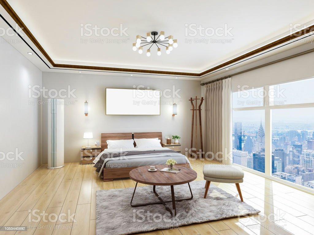 Luxus Modern Hotel Schlafzimmer Designrenderings Doppelbett ...