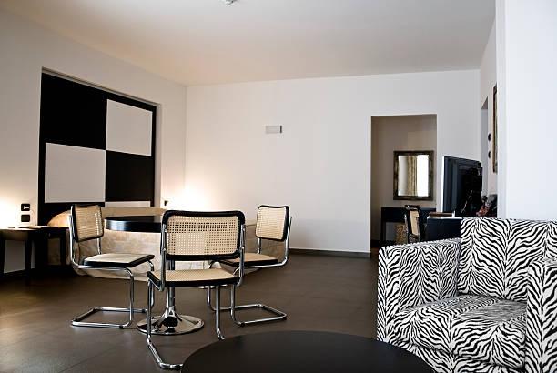 Luxury modern hotel suite stock photo