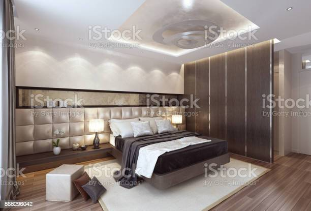 Luxury modern interior bedroom with large bed picture id868296042?b=1&k=6&m=868296042&s=612x612&h=6dgfbbbapjsan eqza9udb4xzklhrpeclrtamrtvjtu=