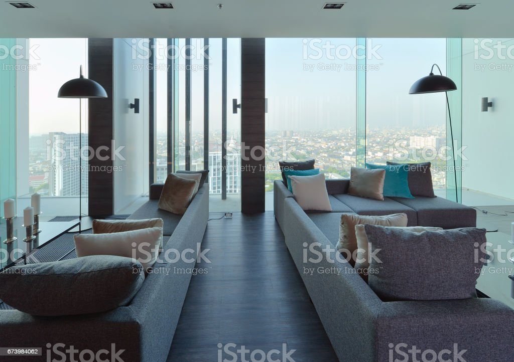 luxury modern living room interior and decoration, interior design royalty-free stock photo