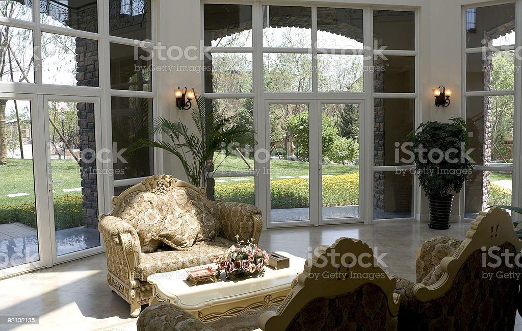 Luxury modern living room royalty-free stock photo