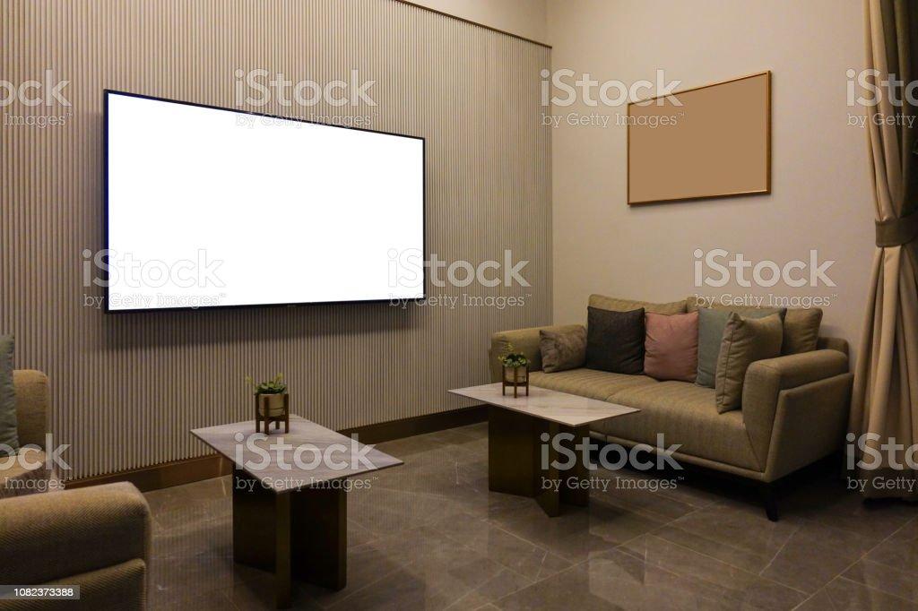 Lujo Moderno Living Comedor Con Muebles Tv Y Foto Marco De La ...