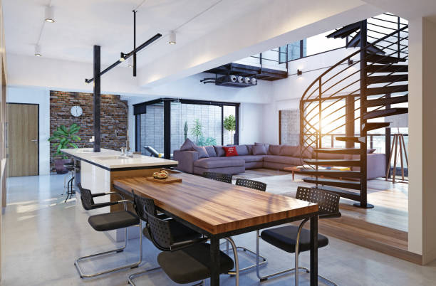 Moderno apartamento de luxo - foto de acervo